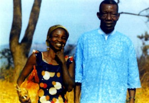 Mama Makeka Rebecca with husband, Isaak Mutondo Tshimika
